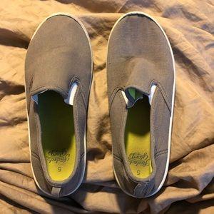 3/$10 Slip on grey sneakers